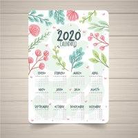 Calendario 2020 en español gratis para descargar