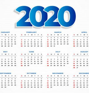 calendario 2020 imprimi - Descarga Calendario 2020 gratuito en vectores