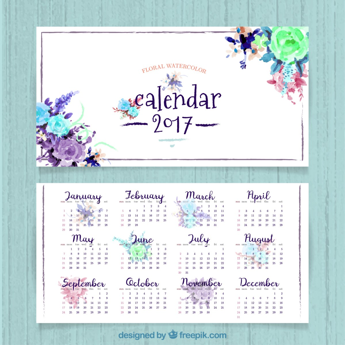 Descarga gratis un calendario 2017 para imprimir