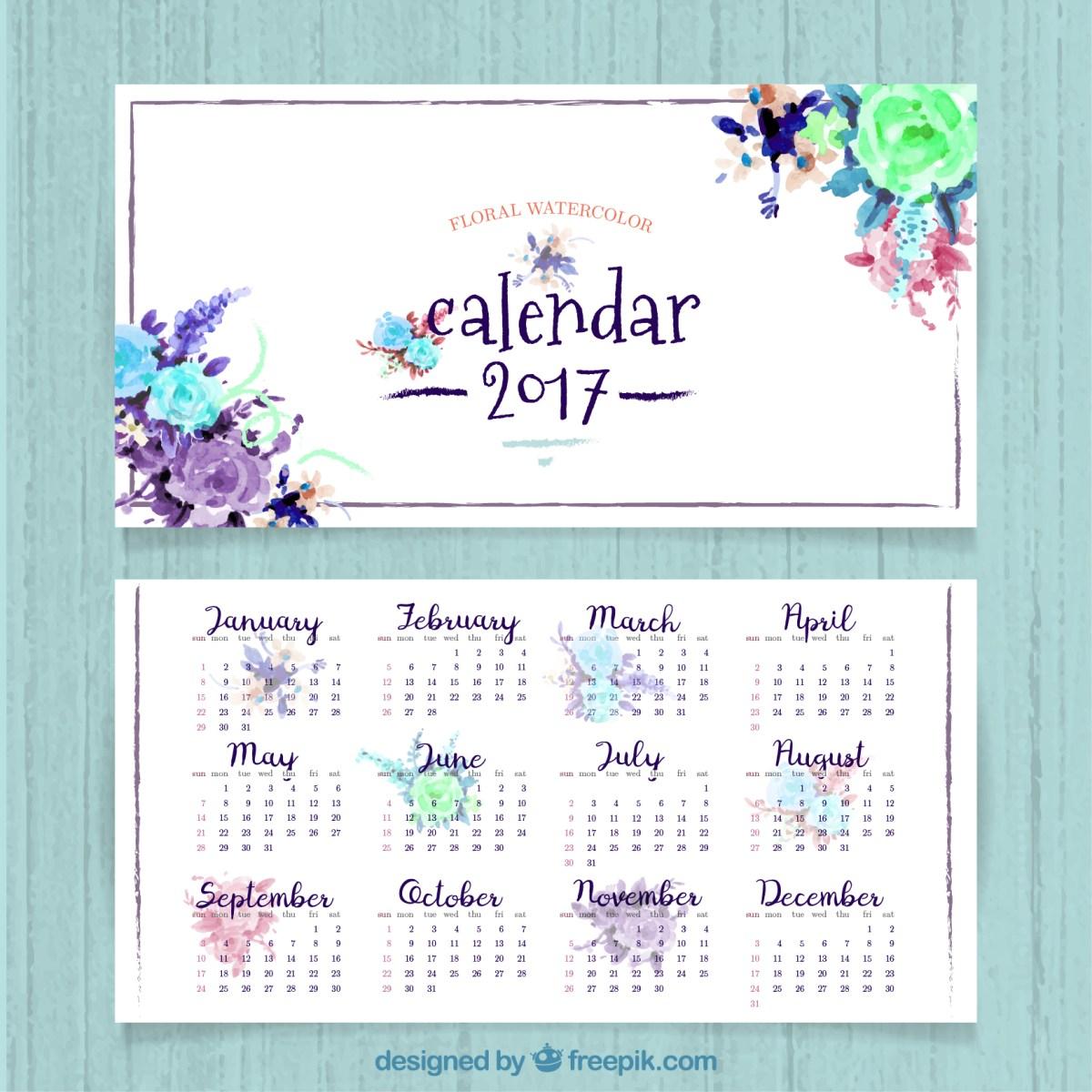 Descarga gratis un calendario 2017 para imprimir