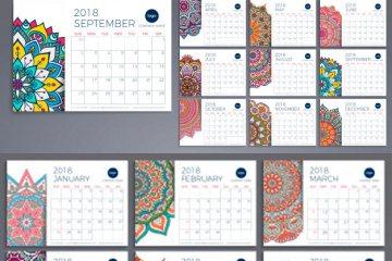 calendario espanol 2018 - Calendario gratis tipo almanaque del año 2018