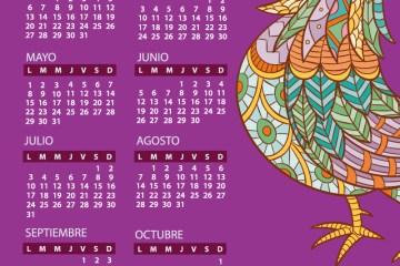 calendario jumabu 2017 ano del gallo - Calendario 2017 para imprimir con dibujo de gallo