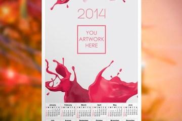 calendario mock up 2014 - Mock Up de Calendario 2014