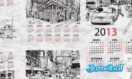 calendarios 2013 vectores - Calendarios 2012 en Vectores