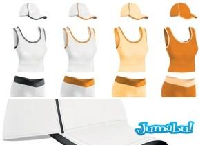 camisetas playeras gorras femeninas vectores - Camisetas, Gorras y Shorts Femeninos en Vectores