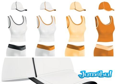camisetas-playeras-gorras-femeninas-vectores