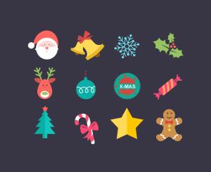 christmas plano icono - Iconos para Navidad con Estilo Flat o Estilo Plano