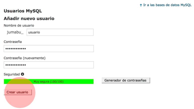 como crear usuario de base de datos mysql - Cómo instalar Wordpress paso a paso