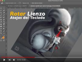 como rotar con photoshop - Cómo rotar el lienzo de tu Photoshop?