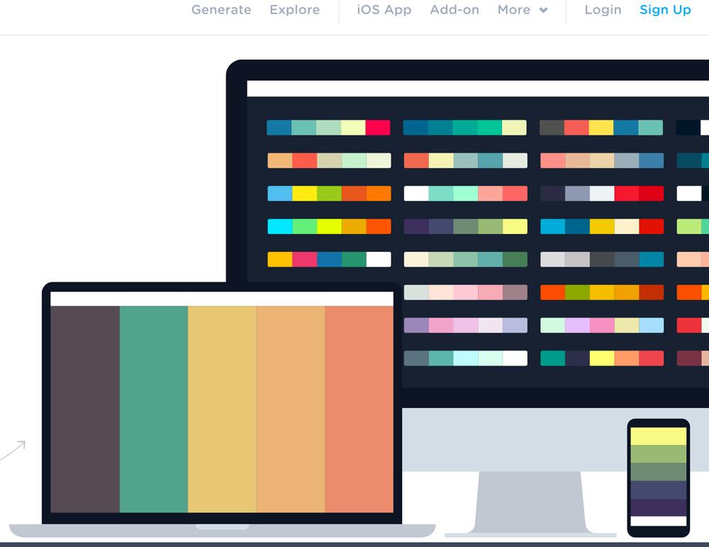 Crear paletas de colores on line con coolors.co