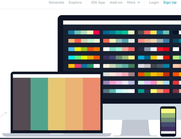 coolors herramienta colores - Crear paletas de colores on line con coolors.co