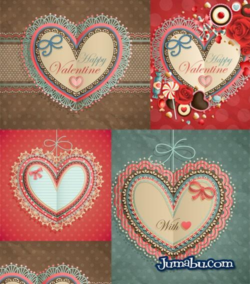 corazones invitaciones amor - Invitaciones Románticas en Papel con Estilo Retro