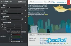 css filterlab editor filtros photoshop css - Adobe Lanza Editor de Filtros de Photoshop para CSS