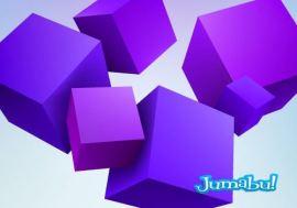 cubos violetas vectoriales - Cubos Violetas en 3D Vectoriales