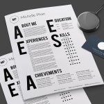 curriculum para disenador grafico creativo - Modelo 2015 de Curriculum Vitae Tipográfico