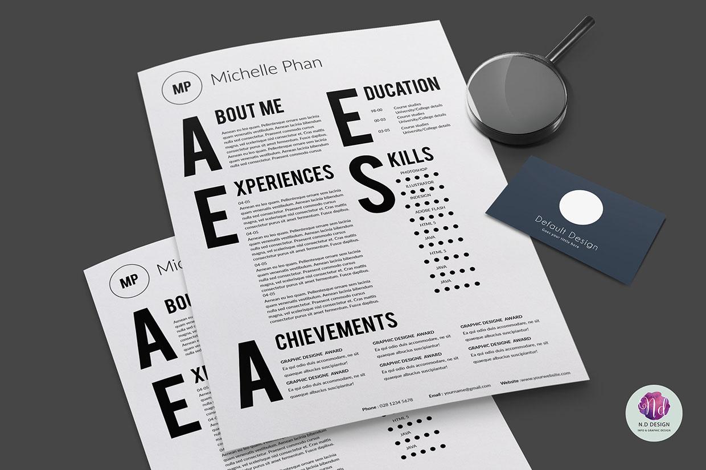 Modelo 2015 de Curriculum Vitae Tipográfico | Jumabu