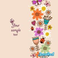 Dibujos de Flores Coloridas en Vectores