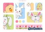 dibujos de pascua dibujos conejos - Dibujos en Vectores para Pascuas