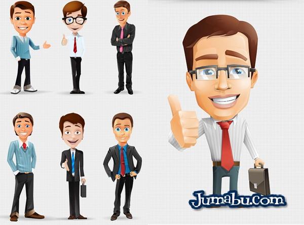 Descarga Dibujos de Hombres de Oficina en PSD  Jumabu