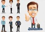 dibujos hombres oficina - Descarga Dibujos de Hombres de Oficina en PSD