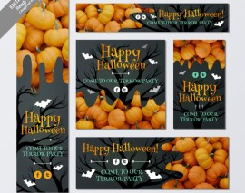 diceno de banners halloween - Banners para Halloween que puedes Descargar Gratis