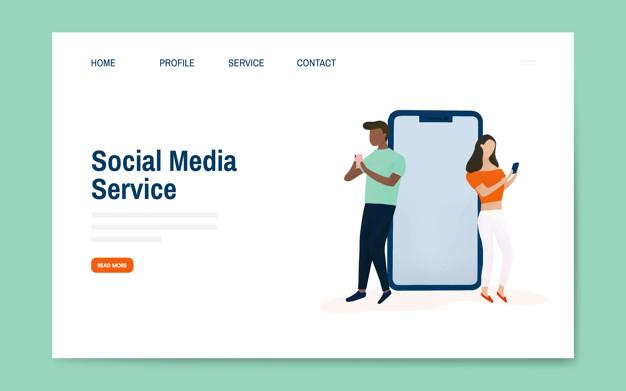diseno de landing page servicio social media 01 - Diseño de Landing Page para Social Media