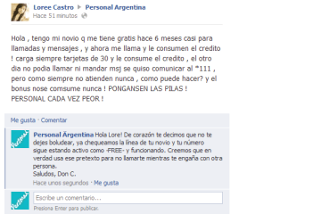 don c soporte personal engano - Don C - El usuario de Facebook que dió Soporte a Personal