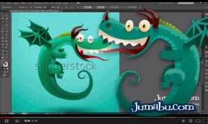 dragon vectores tutorial ilustracion - Cómo Dibujar con Illustrator un Dragón en Vectores