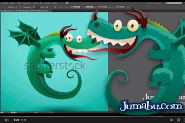 dragon vectores tutorial ilustracion - Cómo Dibujar con Illustrator un Dragón en Vectores