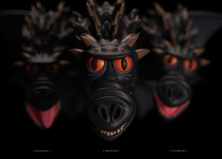 dragons got 1024x735 - Conoce los personajes de Games of Thrones en 3D (Fan Art)