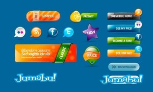 elementos web banners botones - Elementos Web en PSD HD