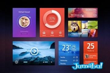 elementos web psd widgets - Elementos para Diseño Web en Photoshop