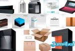 embalajes cajas vectores1 - Packs, Cajas, Embalajes para productos en Vectores