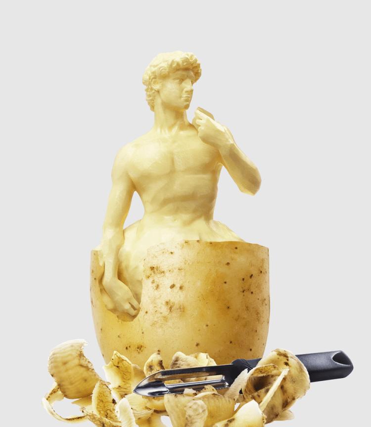 escultura patata 3d - Los mejores desarrollos en 3D de Pierre Bourjo