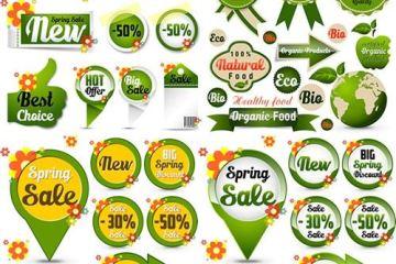 etiquetas precios promociones - Etiquetas para Colocar Precios y Promociones en Vectores