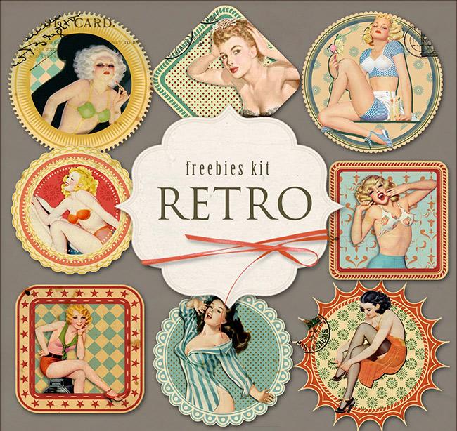 etiquetas retro mujeres antiguas - Etiquetas con mujeres de publicidades antiguas