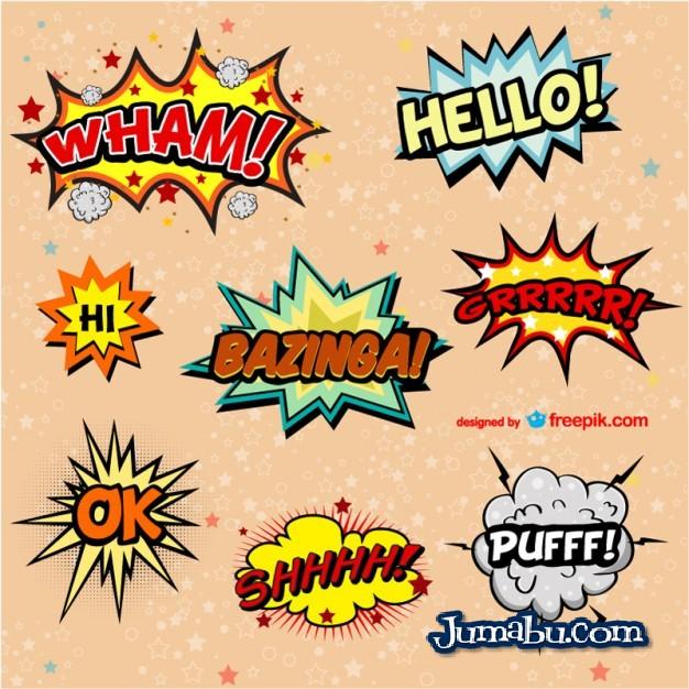 exclamaciones comic vector - Exclamaciones de Comics en Vectores