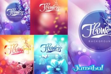 flores en vectores1 - Coloridas Flores Vectorizadas para Descargar