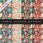 fondo floral japones - Fondos florales japoneses en vectores para descargar gratis