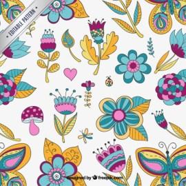 fondo floral vector - Fondos con Motivos Florales en Vectores