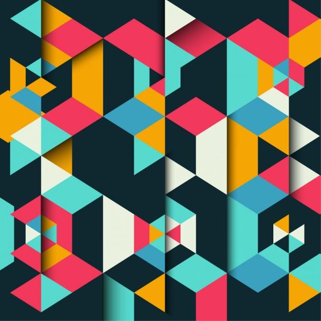 fondo geometrico colores triangulos - Fondos geométricos en vectores para descargar gratis