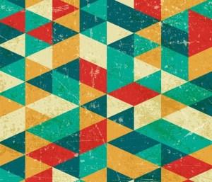fondo geometrico grunge e1459165925914 - Fondo geométrico en vectores con estilo retro