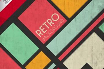 fondos con figuras geometricas coloridas retro gratuitas