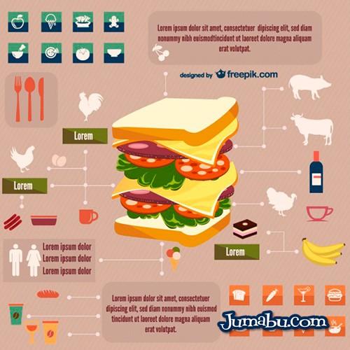 food and drinks free infographic 23 2147491839 - Comida y Bebidas Infografías en Vectores