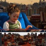 foto montaje nina libreria photoshop - Video Evolutivo de un FotoMontaje con Photoshop