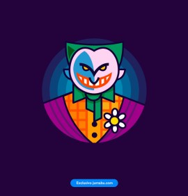 guazon joker vector - Estampa del Guasón o Joker en vectores