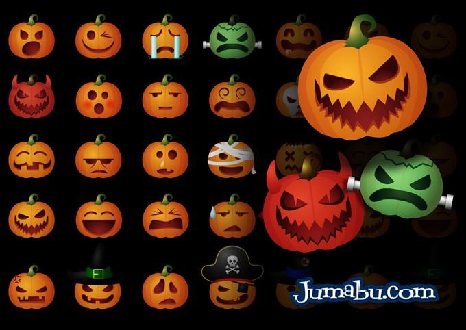 halloween calabazas vectores gratis iconos - Calabazas en Vectores para Halloween