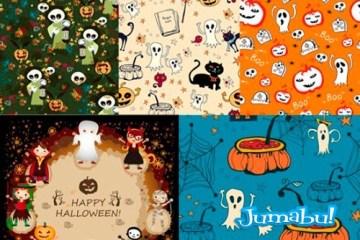 halloween vectores fantasmas mosntruitos - Halloween Vectores para Noche de Brujas!