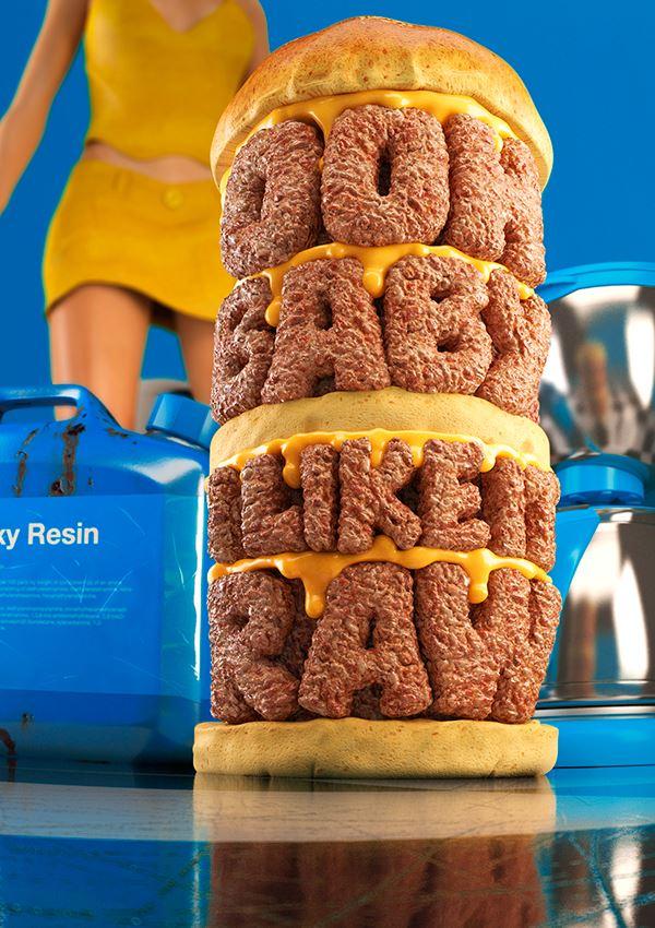 hamburguesa 3d - Conoce el fascinante trabajo de Chris Labrooy
