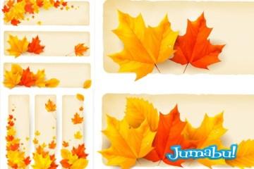 hojas naranjas arboles caidas - Hojas de Árboles Otoñales